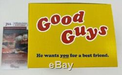 EDAN GROSS signed Funko POP Figure CHUCKY Good Guys Doll Voice Childs Play JSA