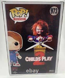 Ed Gale & Alex Vincent Dual Signed Childs Play 2 10 Chucky Funko POP Beckett CO
