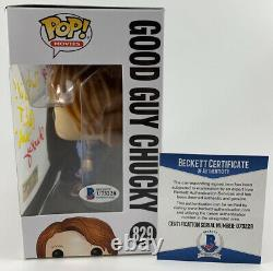 Ed Gale Alex Vincent Dual Signed Childs Play Good Guys Chucky Funko POP Beckett