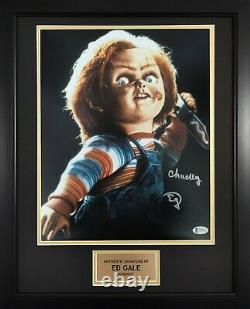 Ed Gale Chucky Childs Play Horror Movie Framed Signed 11x14 Autograph Photo BAS