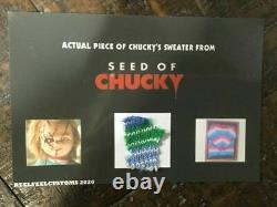 Extremely Rare! Child's Play Seed of Chucky Small Piece Sweater Screen Used Prop