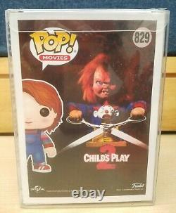 Funko Pop Good Guy Chucky #829 Childs Play 2 Hot Topic Excl Signed by Alex Vince