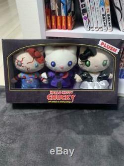 Halloween Hello Kitty x Child's Play Chucky Plush Trio w BOX Sanrio JP x USJ FS