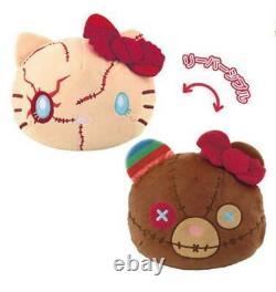 Hello Kitty Chucky Child's Play Reversible Cushion Plush USJ Halloween Japan