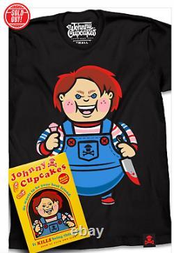 Johnny Cupcakes Good Guy Big Kid Mens Medium Chucky Childsplay New in Box