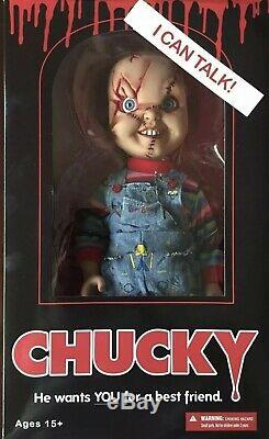 Limited Edition Childs Play CHUCKY SCARRED 15 TALKING GOOD GUY DOLL