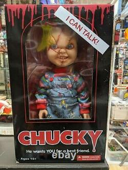 MEZCO Doll Child's Play 15 Scarred TALKING CHUCKY Mega Scale Figure Official