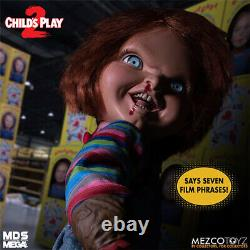 Mezco Child's Play 2 Menacing Chucky 15 Inch Talking Doll Brand New and In Stock