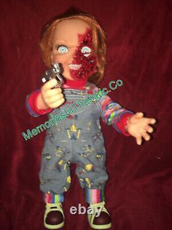 Mezco Child's Play 3 Talking Pizza Face Chucky Doll Mega Size 15 Figure NEW