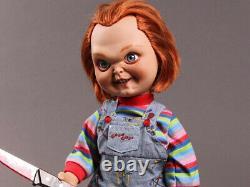Mezco Child's Play Movie SNEERING CHUCKY 15 Inch Mega Talking Doll IN STOCK