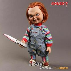 Mezco Child's Play Sneering Chucky 15-Inch Talking Doll Action Figure