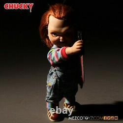 Mezco Child's Play Sneering Chucky 15 Inch Talking Doll Dented Box New In Stock