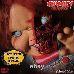 Mezco Designer Series Child's Play 3 Talking Pizza Face Chucky