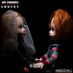 Mezco LDD Living Dead Dolls Bride of Chucky Chucky & Tiffany Child's Play Set