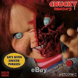 Mezco MDS Child's Play 3 Mega 15 Talking PIZZA FACE CHUCKY Doll FREE SHIPPING