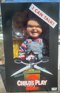 Mezco MDS Mega Chucky Child's Play 2 Talking Menacing Jumbo Doll In Stock Bloody