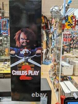 Mezco Mega Scale Child's Play 2 Menacing Chucky 15 Talking Doll (damaged box)