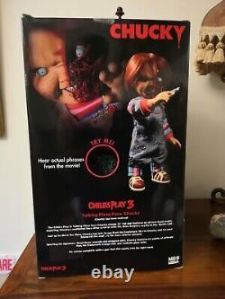 Mezco Talking CHUCKY DOLL CHILD'S PLAY 3 Pizza Face 15 Mega Figure Horror