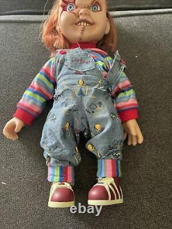 Mezco Toys Child's Play Talking Scar Chucky 15 inch Doll WORKS GREAT