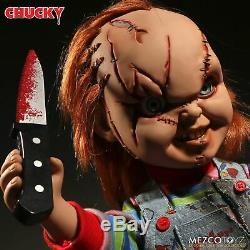 Mezco Toyz Child's Play Mega Scale 15 Talking Scarred Chucky Doll NEW In Stock