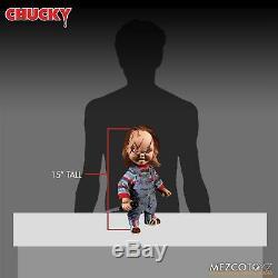 Mezco Toyz Child's Play Talking Scarred Chucky Good Guy Reissue 15 Doll 78003