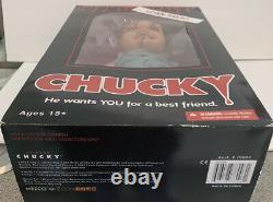 Mezco Toyz Talking Scarred Chucky Childs Play HorrorMega Scale15 Doll 78003 NIB