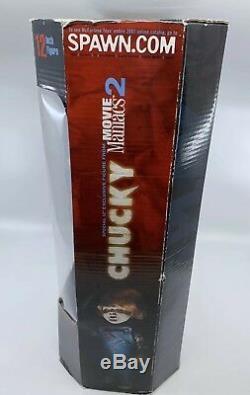 NEW 2001 Child's Play 2 CHUCKY 12 Figure Mcfarlane Toys Movie Maniacs Doll NIB