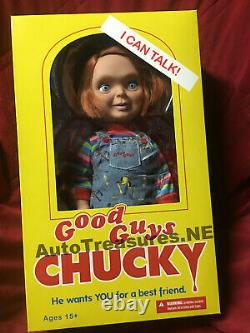 NEW Mezco Child's Play Happy Good Guy Chucky Doll Mega Size 15 Talking Figure