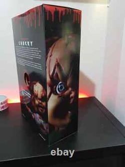 New But Opened Child's Play Chucky Scarred 15 Mezco Talking Mega Scale Doll