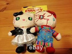 New Sanrio Japan + Usj Halloween Hello Kitty + Childs Play Chucky Plush Trio