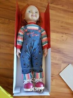 New Spirit Halloween Child's Play 2 3 Good Guys Life Size Chucky Doll & Hammer