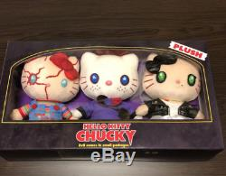 Sanrio Japan USJ Halloween Hello Kitty x Child's Play Chucky Plush Trio