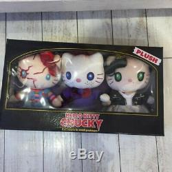 Sanrio Japan USJ Halloween Hello Kitty x Child's Play Chucky Plush Trio xx126