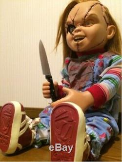 Seed Of Chucky Child Play Life Size Sideshow Toys 11 with Knife and Base F/S