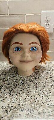 Smiling Chucky Buddi Doll Head Childs Play 2019 Prop Lifesize Accurate