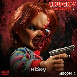 Talking Pizza Face Chucky 38cm Mega Puppe Sound Childs Play 15 Figur Mezco