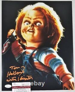 Tom HOLLAND 11x14 Autographed Photo Signed JSA COA 526 Childs Play Chucky