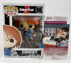 Tone Rodriguez Signed & Sketched Child's Play 2 Chucky Funko POP #56 JSA COA