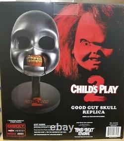 Trick or Treat Childs Play 2 Movie Chucky Doll Skull Halloween Toy Prop JLUS100