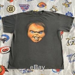 VTG Chucky Child's Play T-Shirt Men's XXL 90s Original Horror Distressed