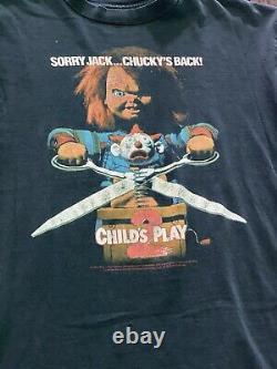 Vintage 90s Chucky Childs Play 2 Movie Promo Tee