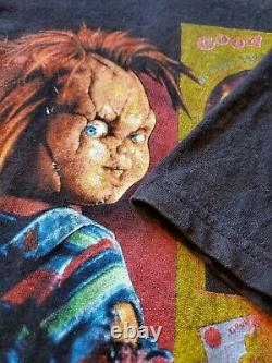 Vintage Bride Of Chucky No More Mr. Good Guy Movie Promo T Shirt XL Child's Play