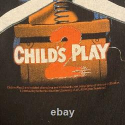 Vintage Childs Play 2 T-Shirt 2000s Size Large Chucky Horror Movie
