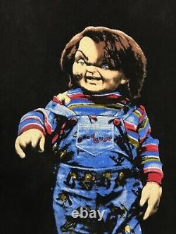 Vintage Childs Play t shirt mens large chucky 1989 movie horror 80s rare