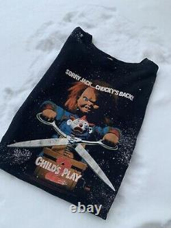 Vintage Chucky Childs Play 2 1990 Movie Promo Tee T Shirt Size XL Horror